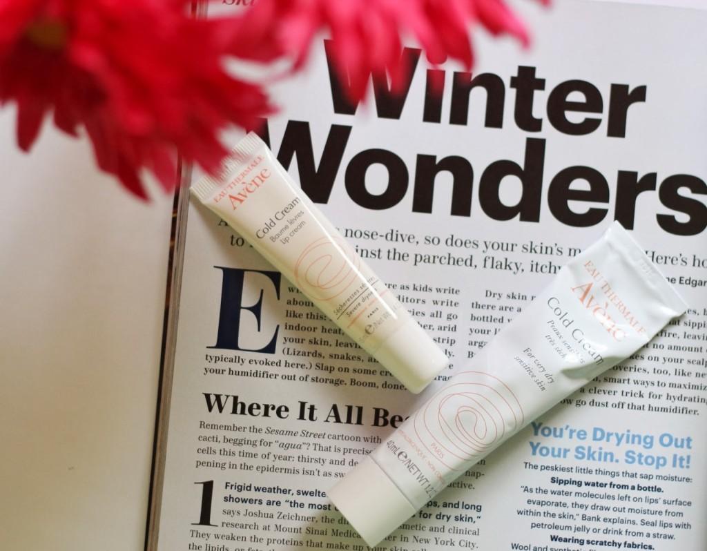 winter skincare, avene, cold cream, winter