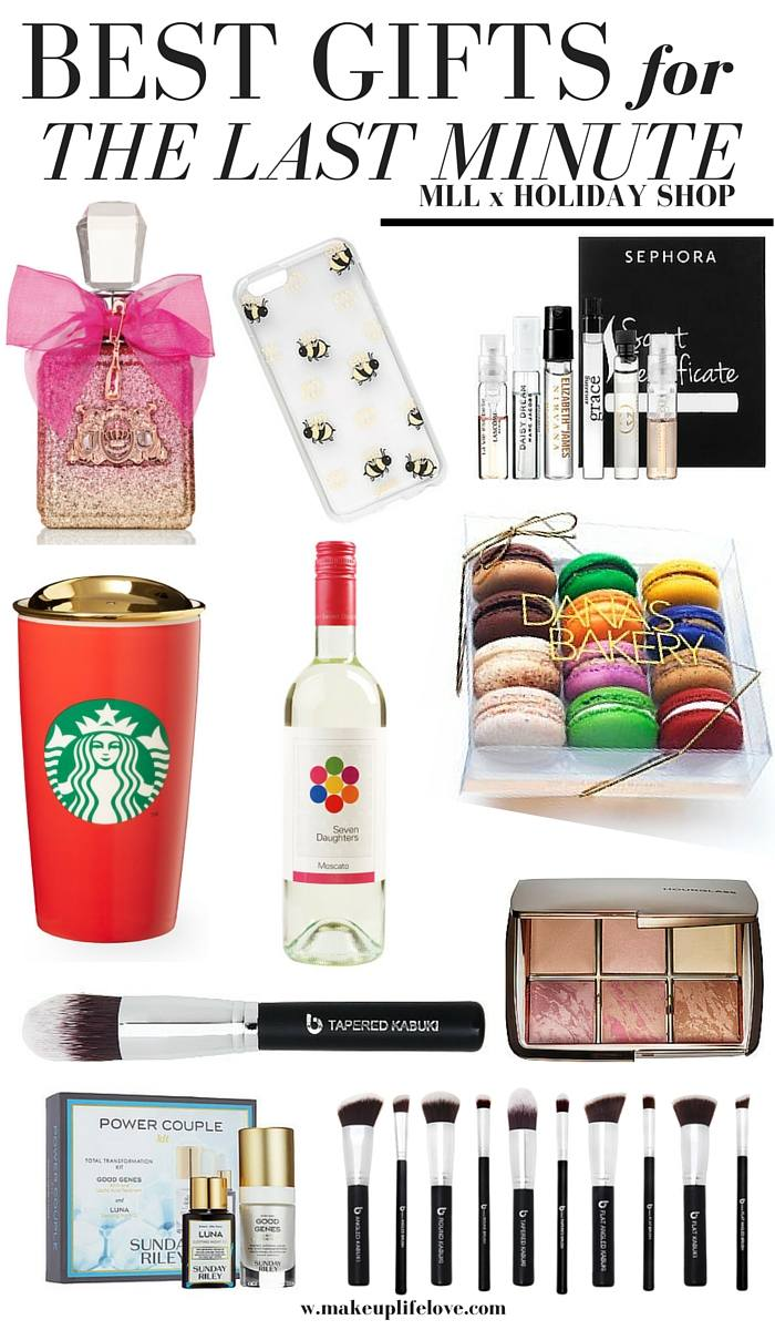 Stuck on what to get someone for the holiday? Head over to the MLL x Holiday Shop and enjoy 10 days worth of holiday gift guides for every special person in your life. Makeup Life and Love- The Last Minute Gift Idea Gift Guide