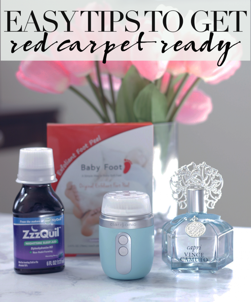 Ready for Red Carpet Season? Here are some easy tips to get Red Carpet Ready from head to toe, featuring some awesome products from Clarisonic- Baby Foot- Vince Camuto- ZzzQuil- See how Jamie gets Red Carpet Ready HERE- https://makeuplifelove.com- #ad- #BabbleBoxx