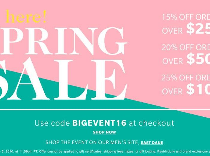 Save money and buy more this year at the HUGE Shopbop Spring Event. Grab all those goodies you have been waiting for NOW!- Shopbop- Sale- Big Event- Shopbop Spring Event