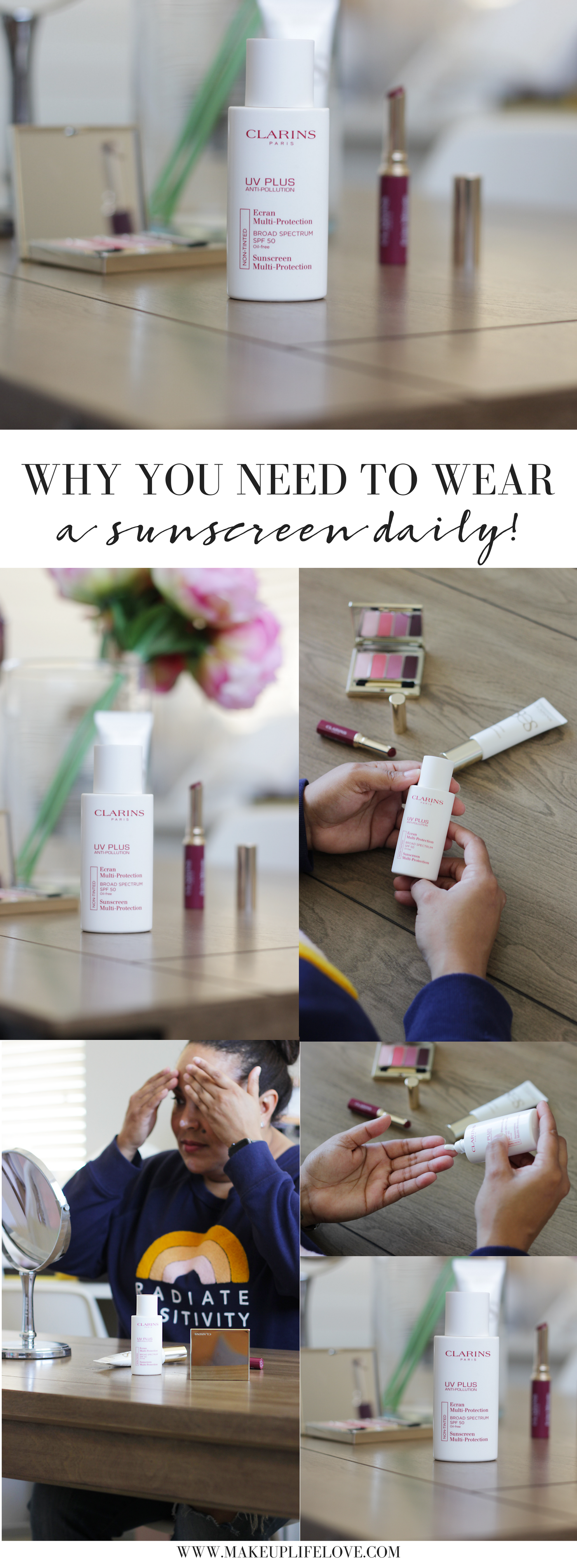 Curious why wearing sunscreen everyday is important? Makeup Life and Love is sharing her top 5 reasons why wearing sunscreen is NON-NEGOTIABLE! Here is why!