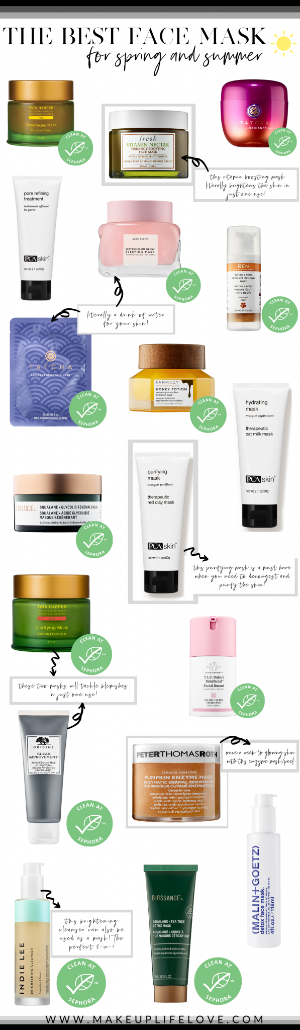 Looking for your favorite face mask for spring? Los Angeles Blogger Jamie Lews has you covered as she is rouding up her favorite face masks for spring here!