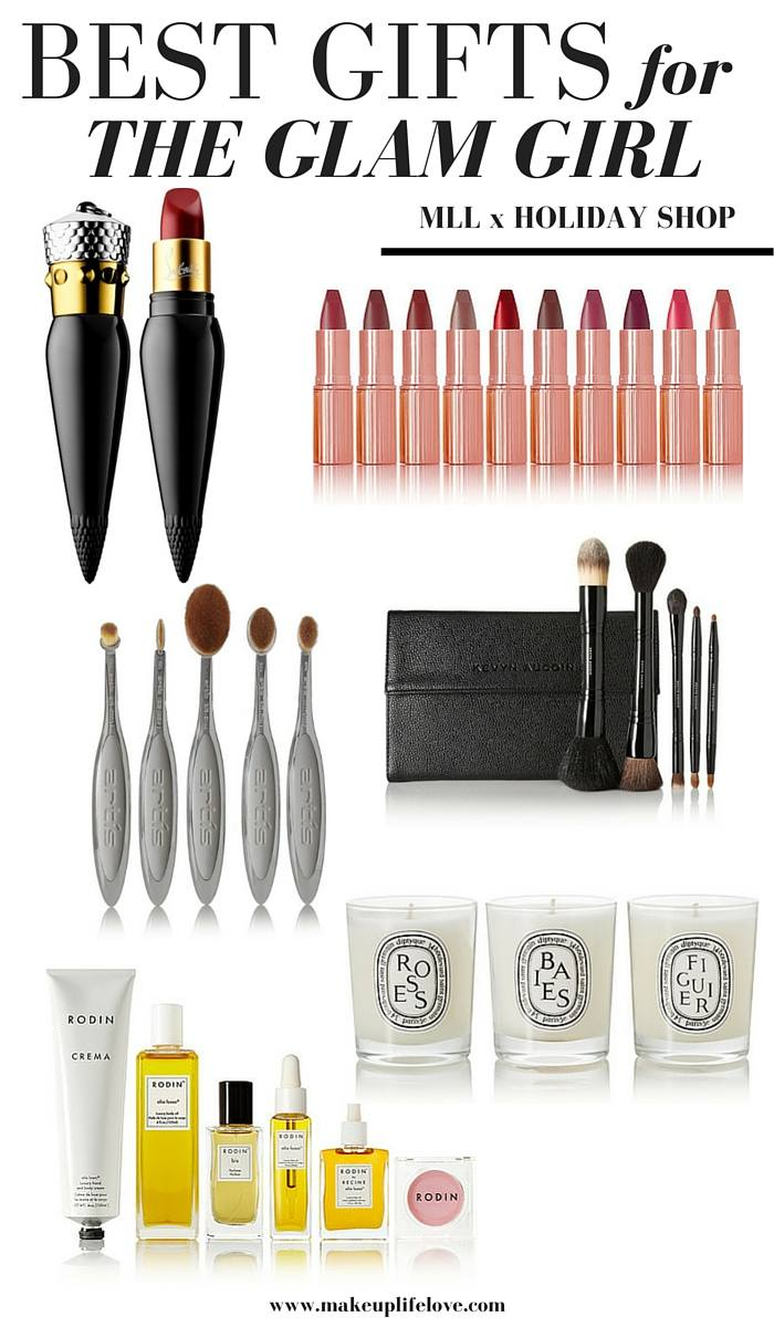 Stuck on what to get someone for the holiday? Head over to the MLL x Holiday Shop and enjoy 10 days worth of holiday gift guides for every special person in you life. Makeup Life and Love- Glam Girl Gift Guide