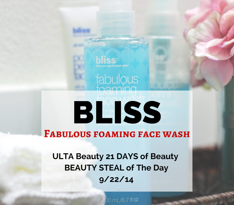 BLISS Fabulous Foaming Face-makeuplifelove-ULTA Beuty-skincare
