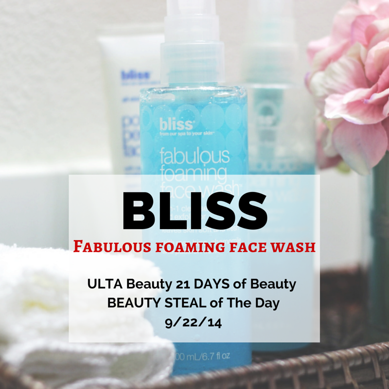 BLISS Fabulous Foaming Face-makeuplifelove-ULTA Beuty-skincare