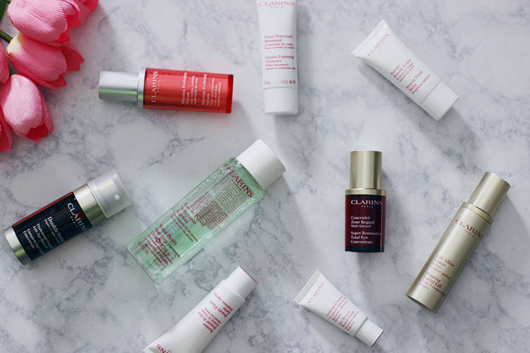 Bright skin days ahead with pepta bright for Clarins salon