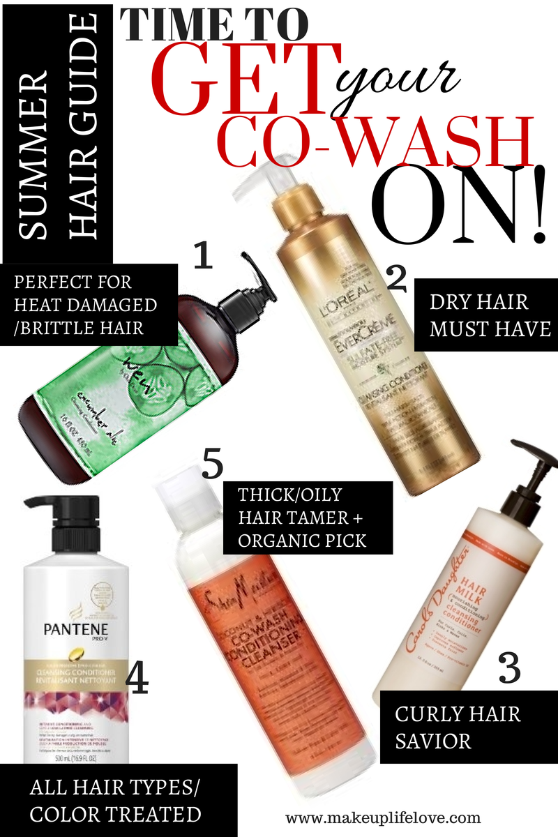 WEN-Pantene-L'OREAL-SheaMoisture-CarolDaughter- CO-Washing-Cleansing-Conditioner-HAIR-Summer-Haircare