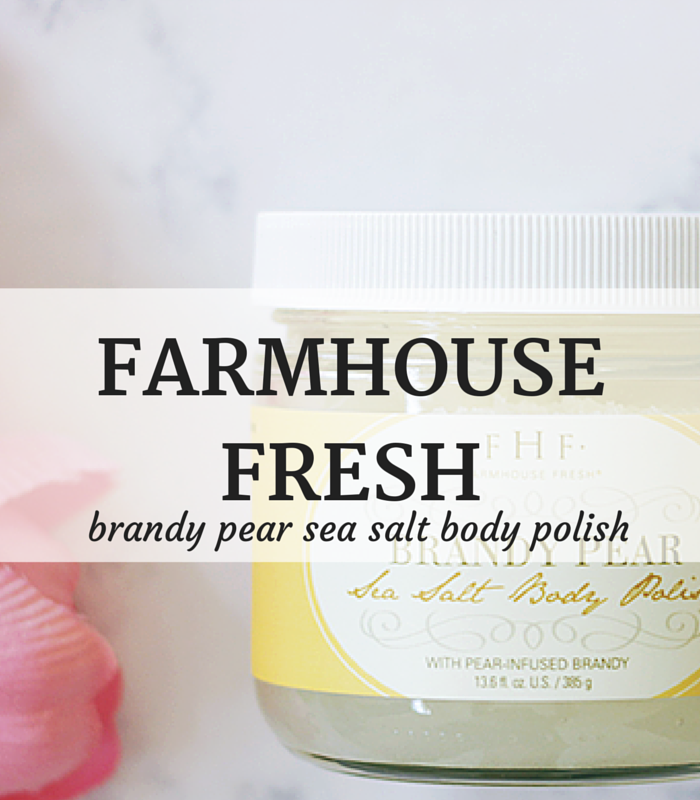 FarmHouse Fresh-Brandy Pear- Sea Salt-Body Polish- Brandy Pear Body Polish- Brandy Pear Body Scrub
