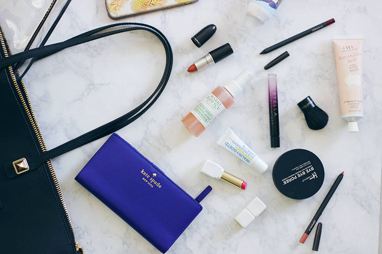 What are your favorite Fall Beauty Essentials? What do you carry most in your purse? Keep reading and find out what Fall Handbag Beauty Essentials are serious MUST HAVES this Fall. - Makeup Life and Love- Fall Beauty Essentials- Handbag Beauty