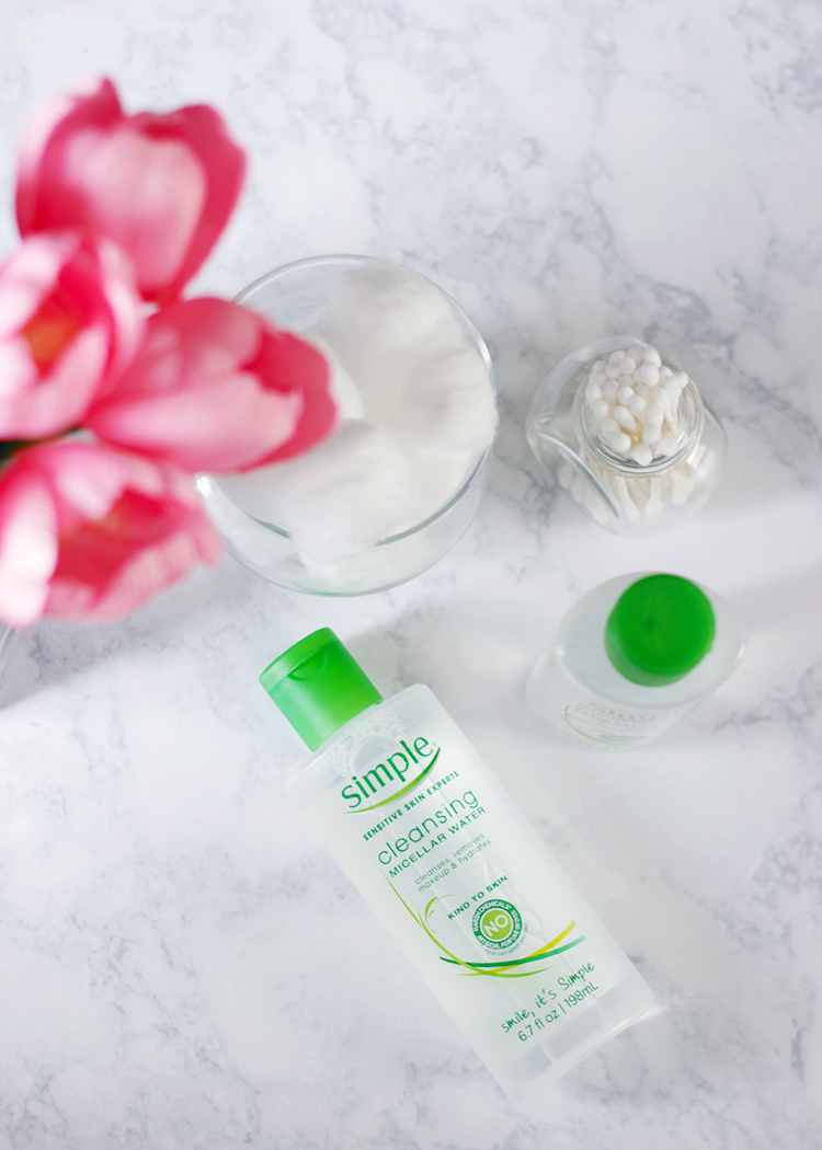 Simple Skincare- Simple-Micellar Cleansing Water-Micealler Water- https://makeuplifelove.com/simple-micellar-water