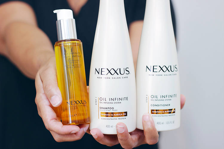 Time to give your hair life with a bit of help from Nexxus Oil Infinite Haircare system now available at walmart. Find out more HERE >> https://makeuplifelove.com