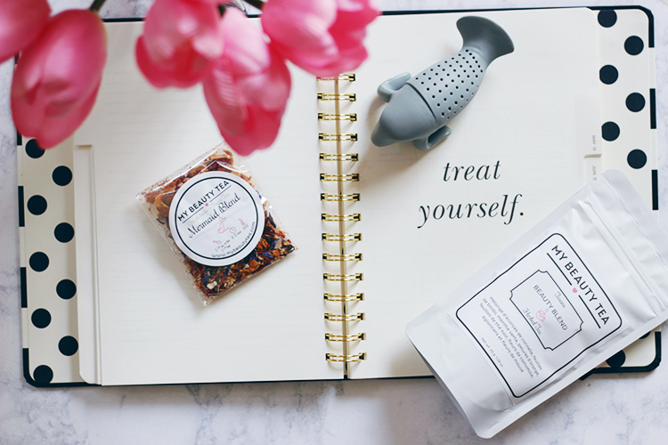 Makeup Life and Love- My Beauty Tea- Mermaid Blend- Beauty Blend- Looking for a perfect beauty pick me up? Then find out why you need to put down the coffee and reach for a glass of My Beauty Tea ASAP.