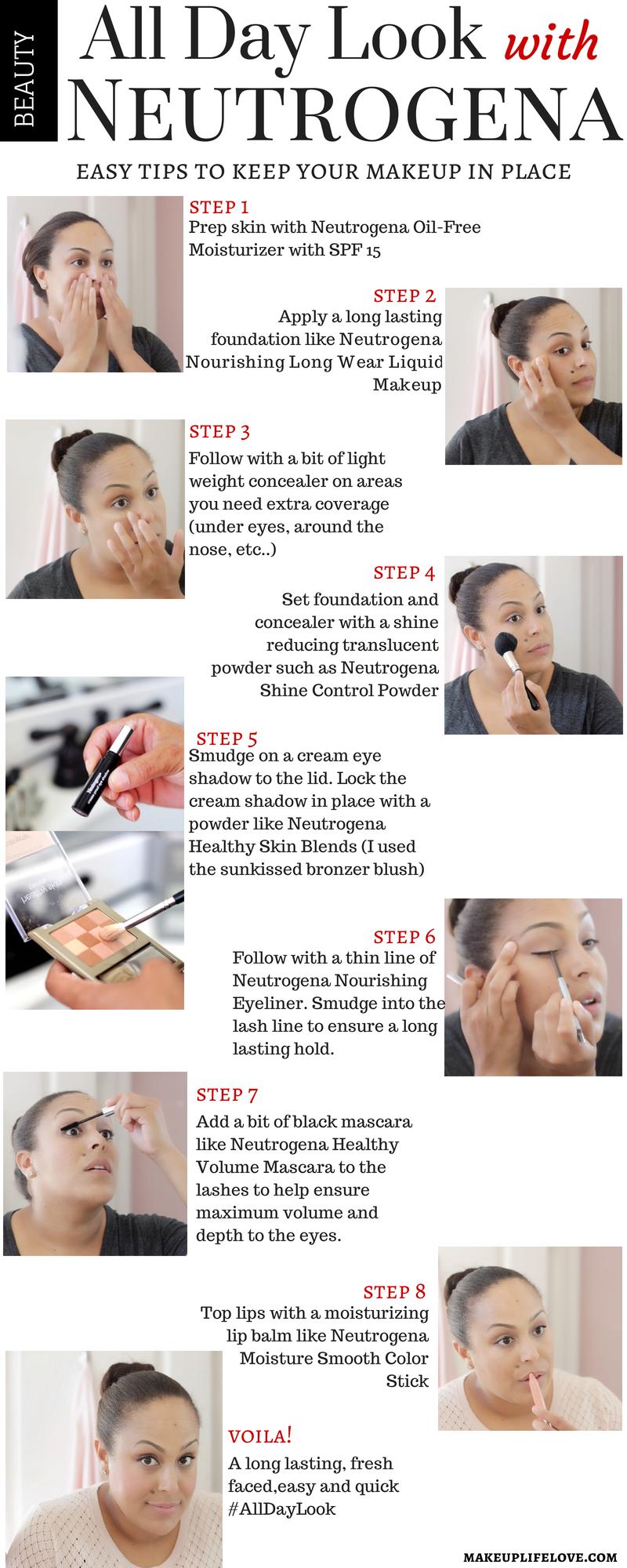 #AllDayLook- Neutrogena-#shop-#ad-#CollectiveBias-beauty-beauty tutorials- makeup tips-makeup-Neutrogena-Tutorial