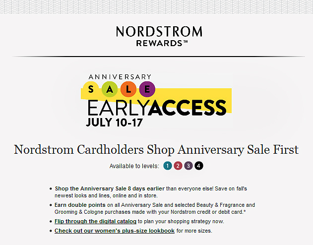 Nordstrom early shop