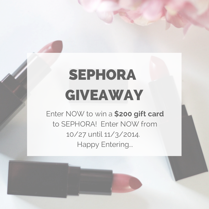 Sephora Giftcard-GIveaway