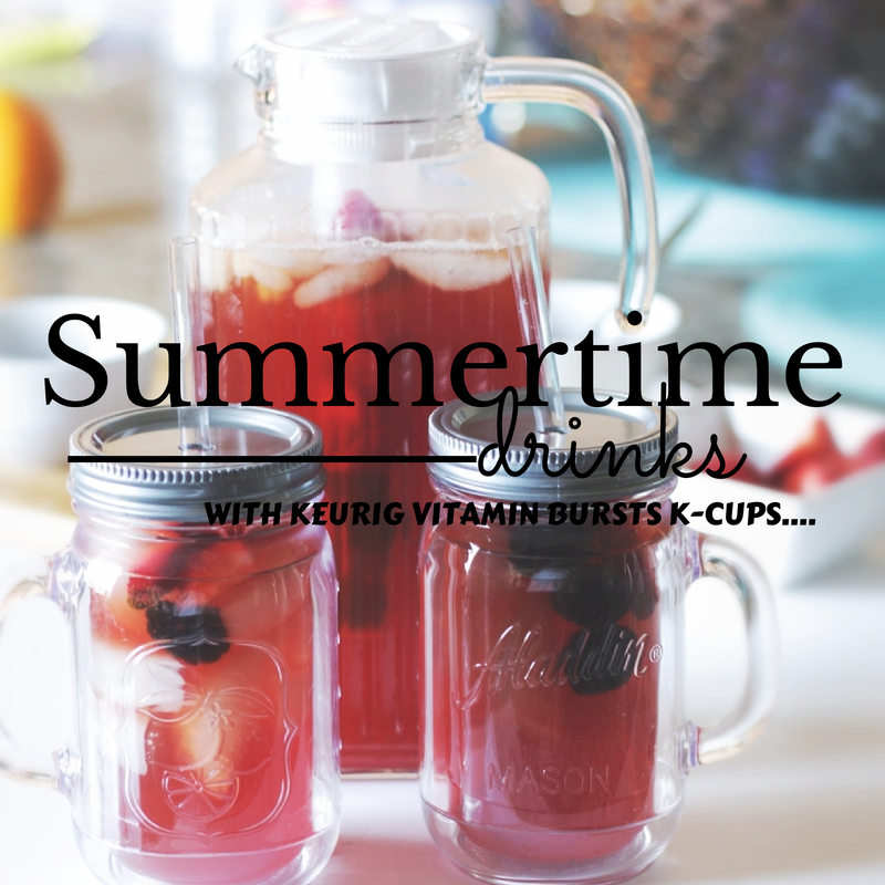 Keurig-Recipes- VitaminBursts-Strawberry-SummerDrinks-BrewOverIce- IcedTea- Best-K-Cup-Flavors