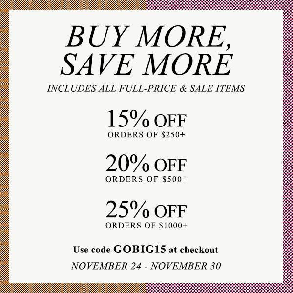 Grab your wallets, and get your mouse ready, for the SHOPBOP buy more, save more sale. Get a jump start on Black Friday shopping and save at the SHOPBOP sale NOW!
